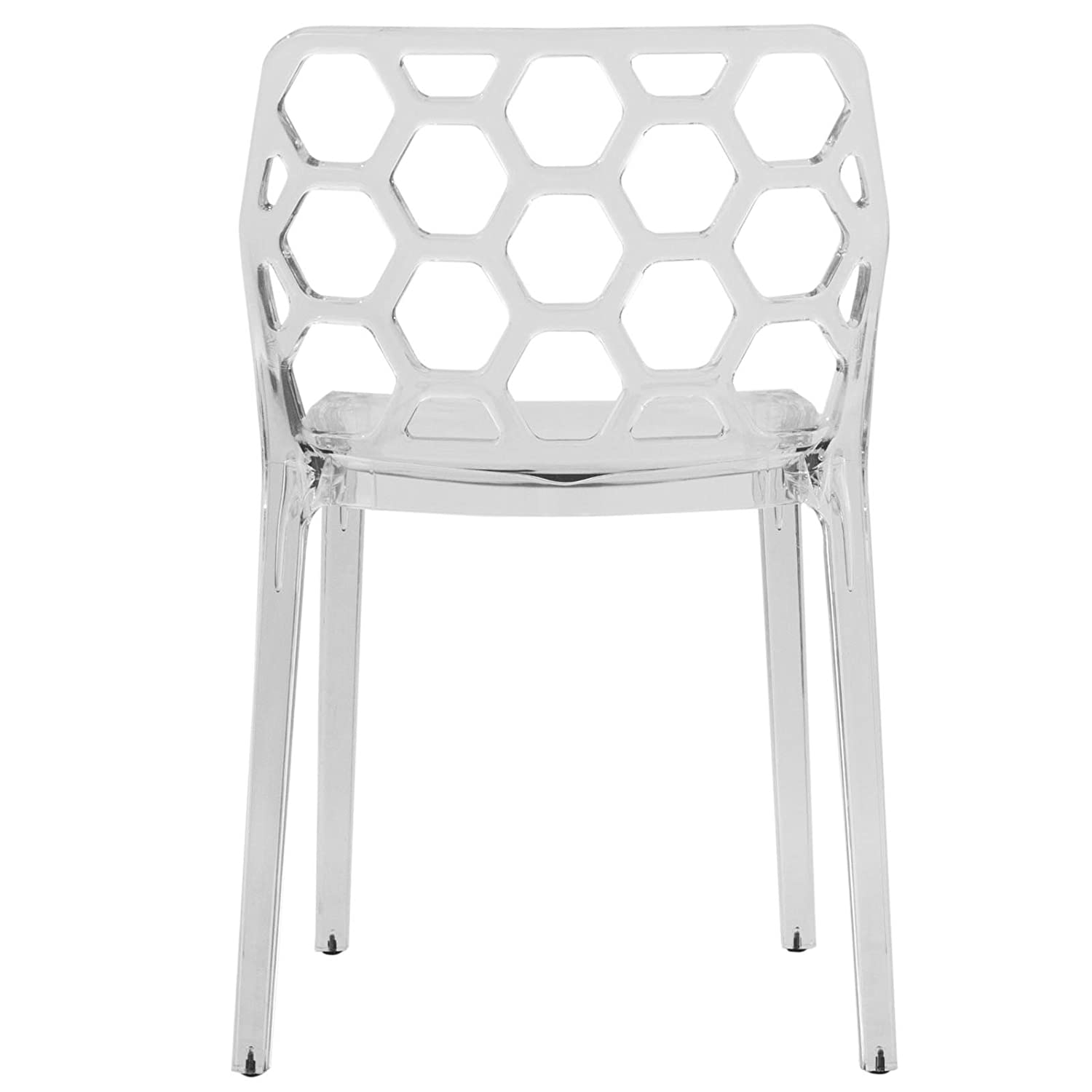 Amazon LeisureMod Dynamic Modern Dining Chair Clear Chairs