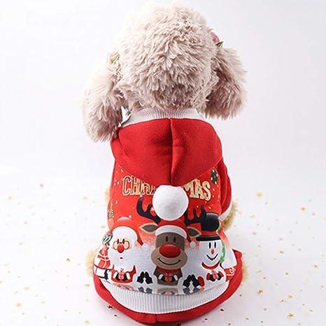 BAONUAN Ropa para Mascotas Ropa De Gato De Navidad Perro ...