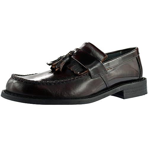 Roamer - Mocasines de Piel para Hombre Rojo Oxblood: Amazon.es: Zapatos y complementos