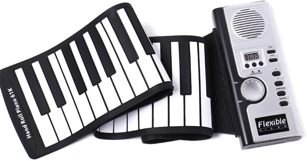 AETOPP - Teclado para piano (61 teclas, plegable, para ...