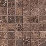 M S International Emperador Dark 12 In. X 12 In. X 10mm Tumbled Marble Mesh-Mounted Mosaic Tile, (10 sq. ft, 10 pieces per case)
