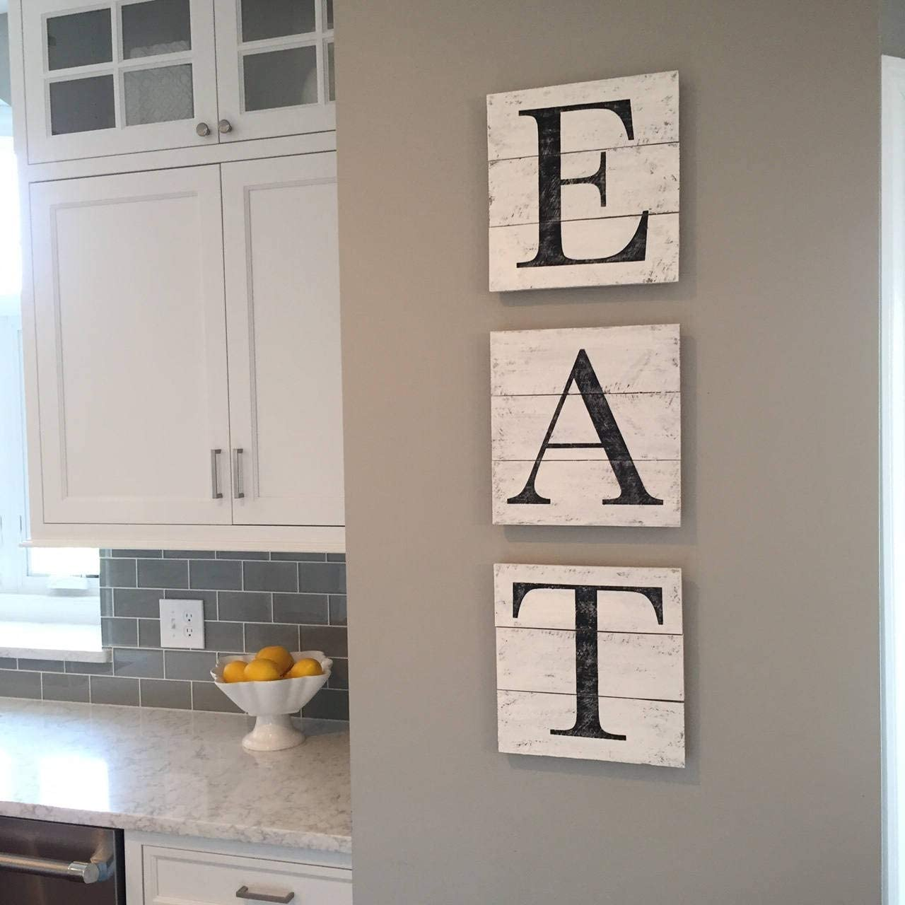Amazon.com: Adonis5Dan EAT Sign Wood Pallet Farmhouse Sign