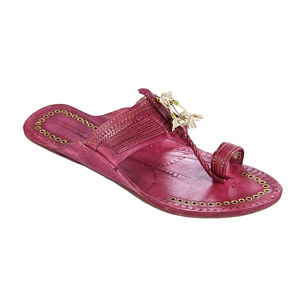 original kolhapuri chappal Artist's braids rubin fine braids Artist's gents slipper sandal B077SZP5LH Sandals 6d6630