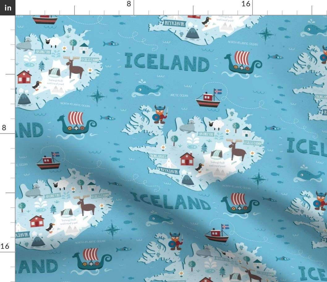 Spoonflower Iceland map Fabric - Illustrated Maps Iceland Viking World on reykjavik iceland on map, new zealand world map, 3d iceland map, iceland map europe, iceland political map, iceland reykjavik city center, europe and siberia map, iceland on the globe, iceland map with main rivers names, iceland in the world map, iceland on a map, mediterranean sea map, iceland road map, scandinavia denmark sweden norway map, iceland on us map, north sea map, iceland points of interest maps, iceland location in the world, iceland on europe, iceland light show in january,