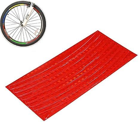 Hilai 1pc Bicicleta Pegatina Ciclismo llanta Reflectante Cinta ...