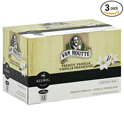 Van Houtte French Vanilla Coffee Keurig K-Cups 72 Count