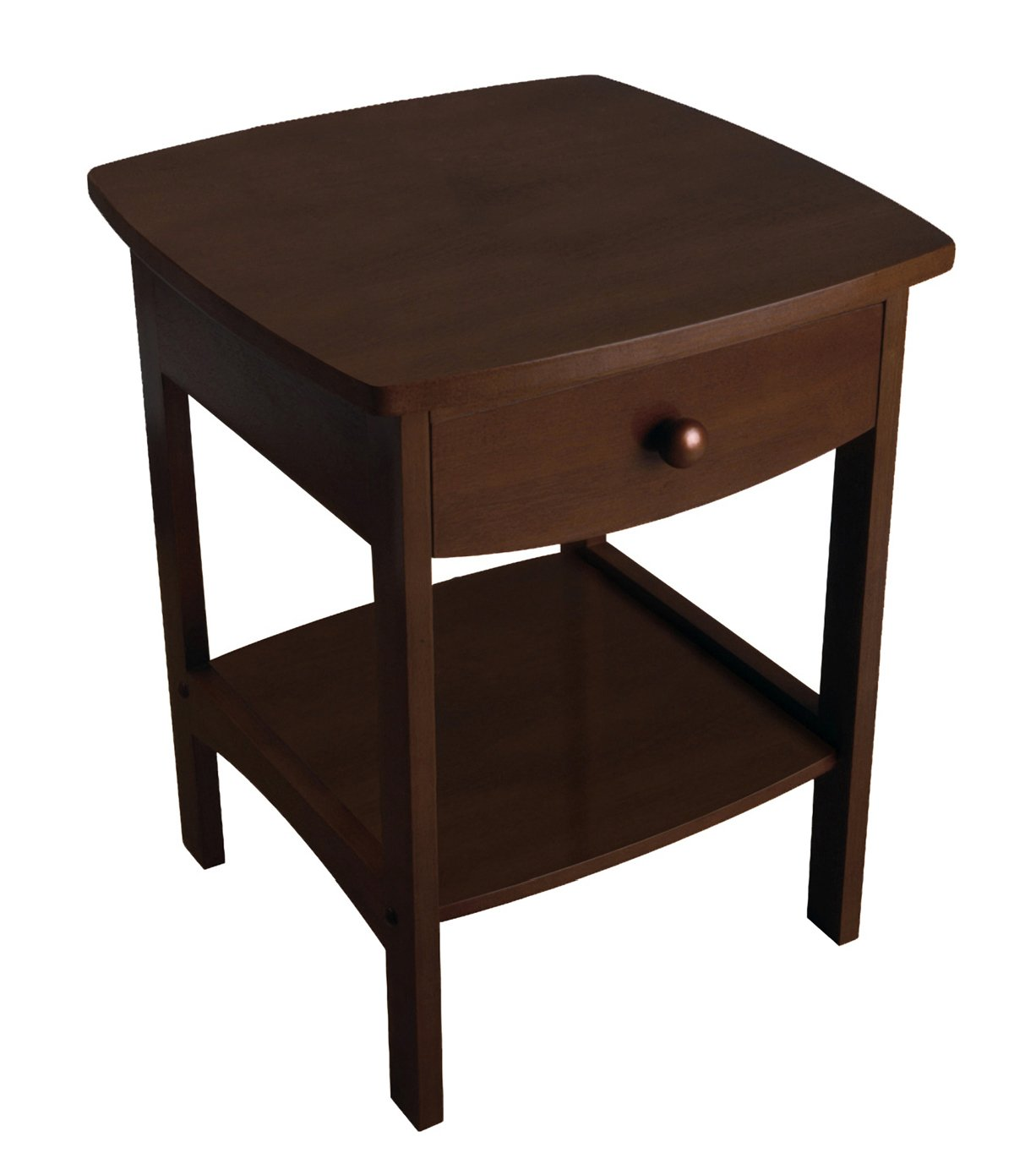 End table with drawer - Amazon Com Winsome Wood End Table Night Stand With Drawer And Shelf Black Kitchen Dining