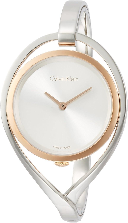 Calvin Klein Reloj Analogico para Mujer de Cuarzo con Correa en Acero Inoxidable K6L2SB16