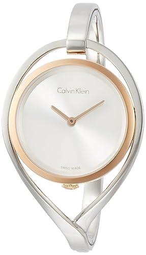 Calvin Klein Reloj Analogico para Mujer de Cuarzo con Correa en Acero Inoxidable K6L2SB16: Amazon.es: Relojes