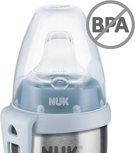 Cuerpo de la botella de acero inoxidable de alta calidad 1/pieza 215/ml de capacidad azul azul NUK Active Cup