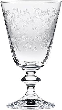 Capacidad de cada copa: 230ml.,Altura: 140 mm.,Vasos de cristal.,Pantografía de alta calidad.,Aptas