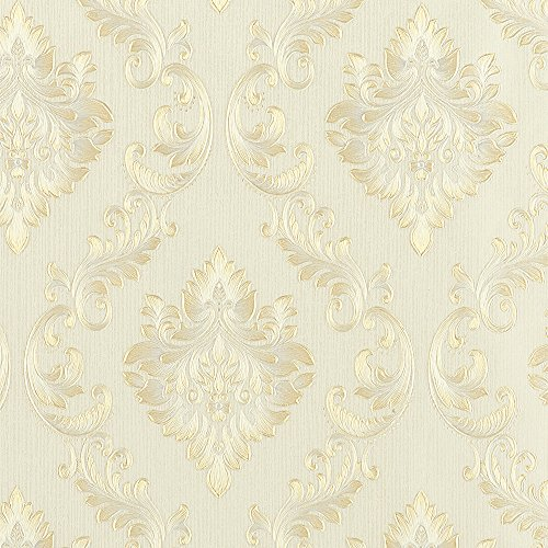 - Wopeite European Vintage Luxury Damask Wallpaper Embossed Textured Paper Non-Woven Home Decor for Living Room Bedroom TV Backdrop