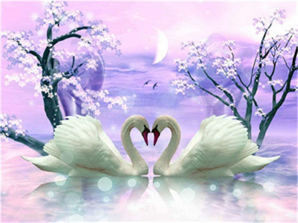 Diamond-Painting-numbering-Tool-Crystal-Rhinestone-Diamond-Embroidery-Household-Wall-Decoration-Crafts-A-Pair-of-Swans