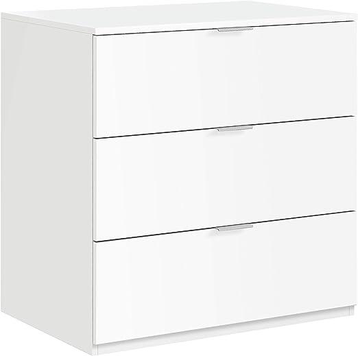 Habitdesign Lc7823o Commode 3 Tiroirs Blanc Matdimensions