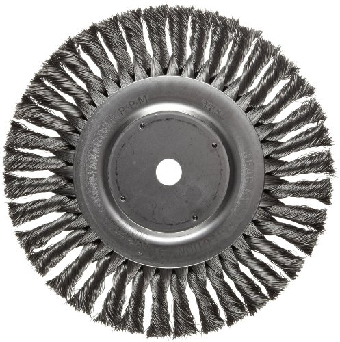 Weiler Dualife Standard Wire Wheel Brush, Round Hole, Steel, Partial Twist Knotted, 8