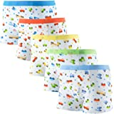 DOURA Boys Boxer Briefs Toddler Underwear Comfortable Soft Cotton with Assorted Colors 5 Pack