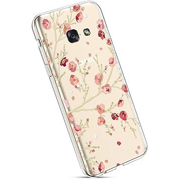 UltraD/ünn Weiche SchutzH/ülle TPU Silikon Bumper Case Cover Durchsichtig Sto/ßfest EINWEG Gummi Sto/ßd/ämpfend SilikonH/ülle Hase Ysimee H/ülle kompatibel mit Samsung Galaxy A5 2017 Transparent