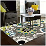 Superior Medallion Collection Area Rug, 6mm Pile Height with Jute Backing, Affordable Contemporary Rugs, Beautiful and Colorful Medallion Pattern – 2'7″ x 8′ Runner, Black, Grey, Blue, and Light Green Review