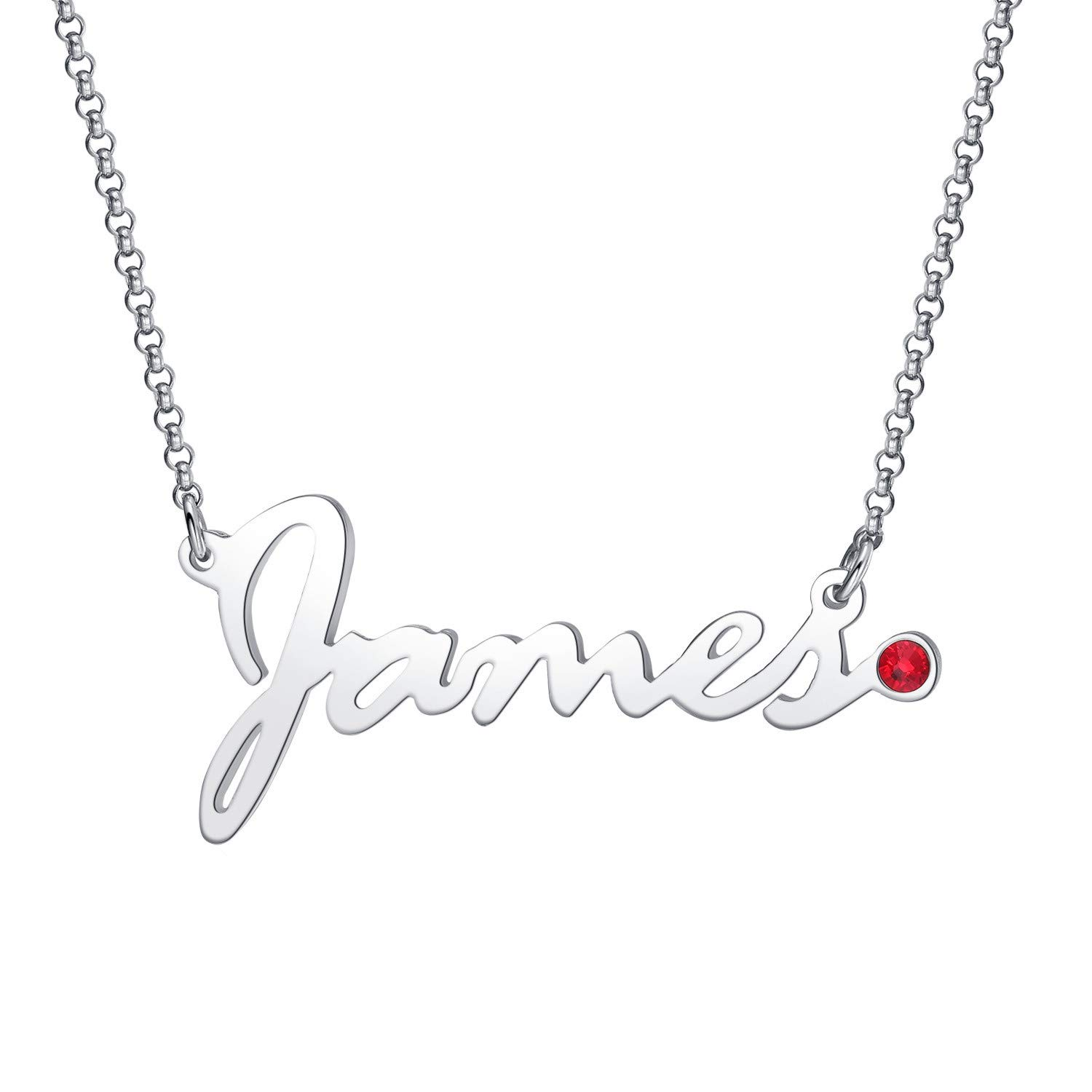 ef3375701c131 Amazon.com: MissNity 925 Sterling Silver Personalized Name Necklaces ...