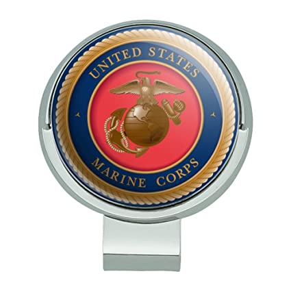GRAPHICS & MORE Marine Corps USMC Emblem Officially Licensed Golf Hat Clip  with Magnetic Ball Marker