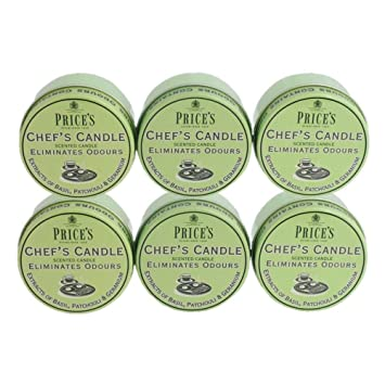 6 x Prices Household Scented Candle Tin eliminates Pet Smells Odour fabric