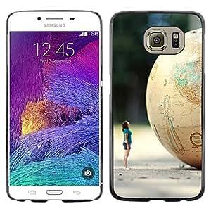 Be Good Phone Accessory // Dura Cáscara cubierta Protectora Caso Carcasa Funda de Protección para Samsung Galaxy S6 SM-G920 // Globe Woman Art Minion Dwarf Planet