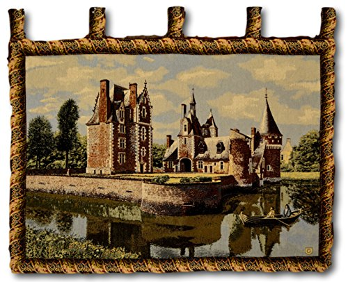 Tache 28 X 41 Inch Victorian Style Woven Summertime Manor Tapestry Wall Hanging Art Home Decor with Hanging Loops