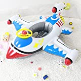 Topwon SUMMER FUN Swimming Toy - Kids Pool Float Airplane Float for Toddler,Party Tube Pool Raft (Inflatable Plane - White)