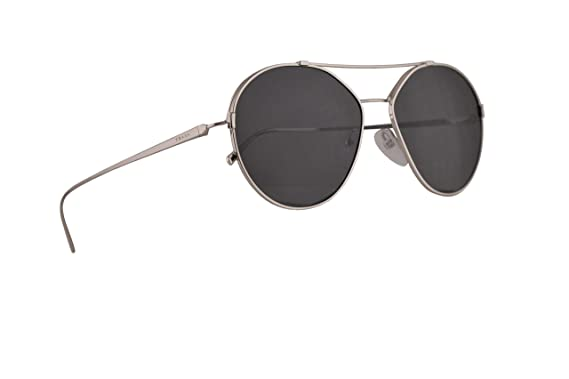 5642c818adf1b Image Unavailable. Image not available for. Color  Prada PR56US Sunglasses  Silver w Grey 55mm Lens ...