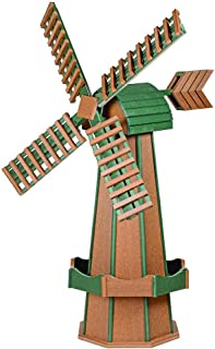 product image for DutchCrafters Decorative Poly Two-Tone Windmill (Large, Mahogany/Turf Green)