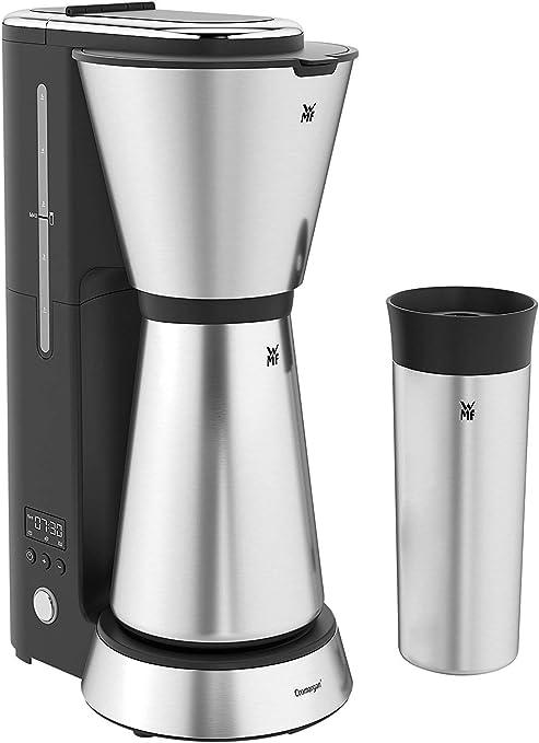 WMF Küchenminis Aroma - Cafetera con termo, 5 tazas, cafetera de filtro, taza térmica para llevar de 350 ml, 870 W, temporizador de 24 horas, apagado ...