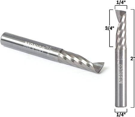 1//4 Shank CNC Carbide End Mill Spiral Up Cut Router Bits 1//4 Cutting Diameter