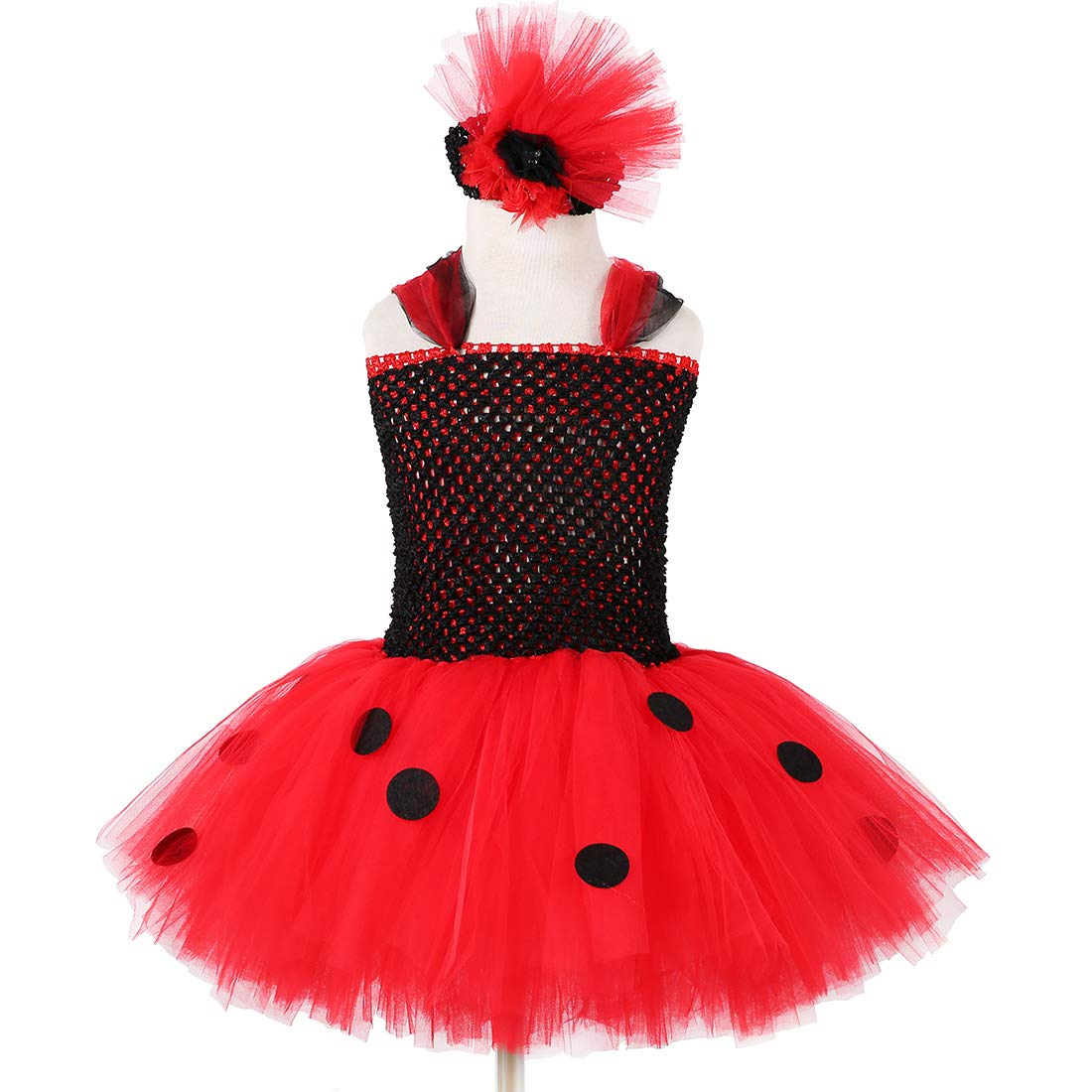 9d031dcd7c0 Ladybug Tutu Dress for Girls Halloween Birthday Party Outfit