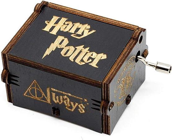 Meiion Antigua caja de música de madera tallada música de manivela: regalo de Harry Potter: Amazon.es: Hogar