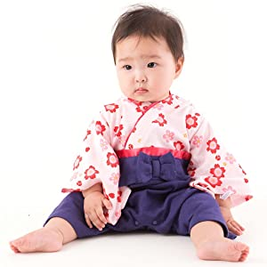 FUN fun Baby Boys' Hakama Coverall 3-12 Months Purple