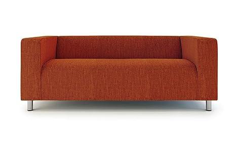 Klippan Loveseat Slipcover for The IKEA 2 Seater Klippan Loveseat Sofa Cover Replacement-Polyester Orange