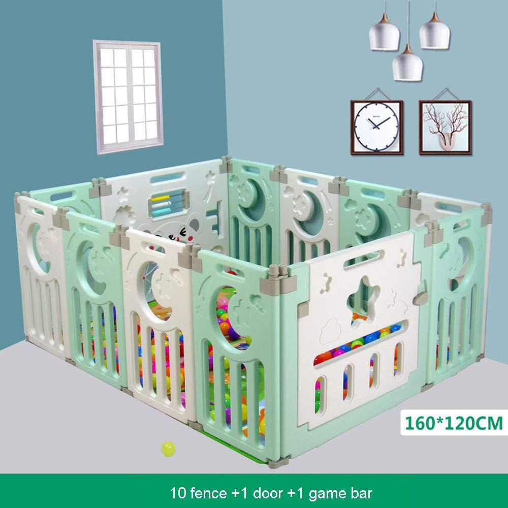 Fencens Ni/ños Beb/és Parque Infantil Plegable Estera De Arrastre para Beb/és Barandilla Valla De Seguridad Hogar Patio Interior 10+2