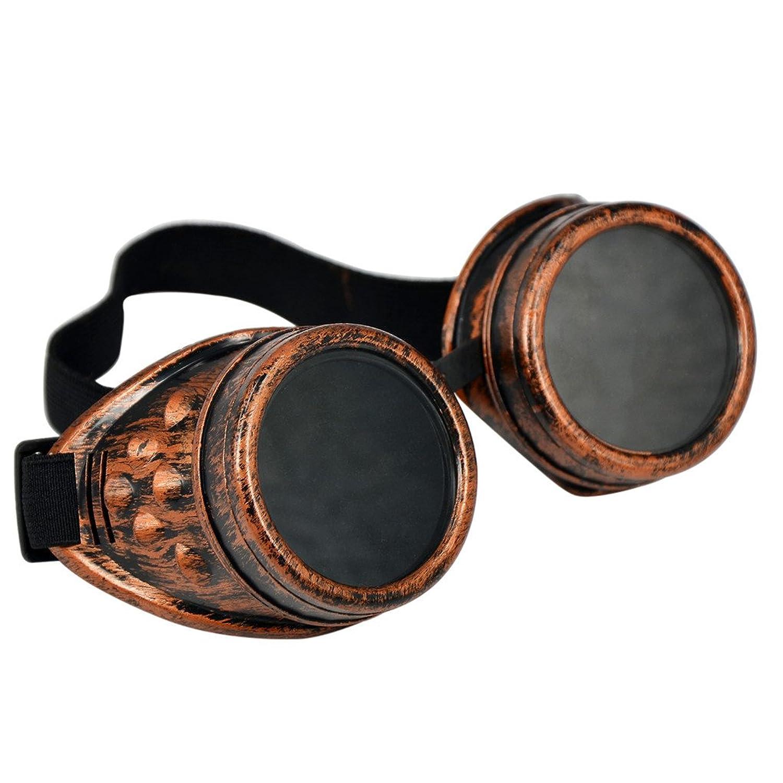 Vovotrade Vintage Style Steampunk Sunglasses Goggles Lunettes de Punk Lunettes De Soleil Cosplay 50s (A) hkwXhc1