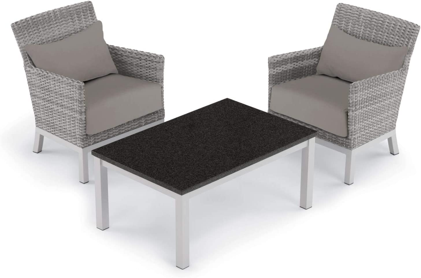 Oxford Garden 5537 Argento & Travira Furniture Set, Powder Coat Flint
