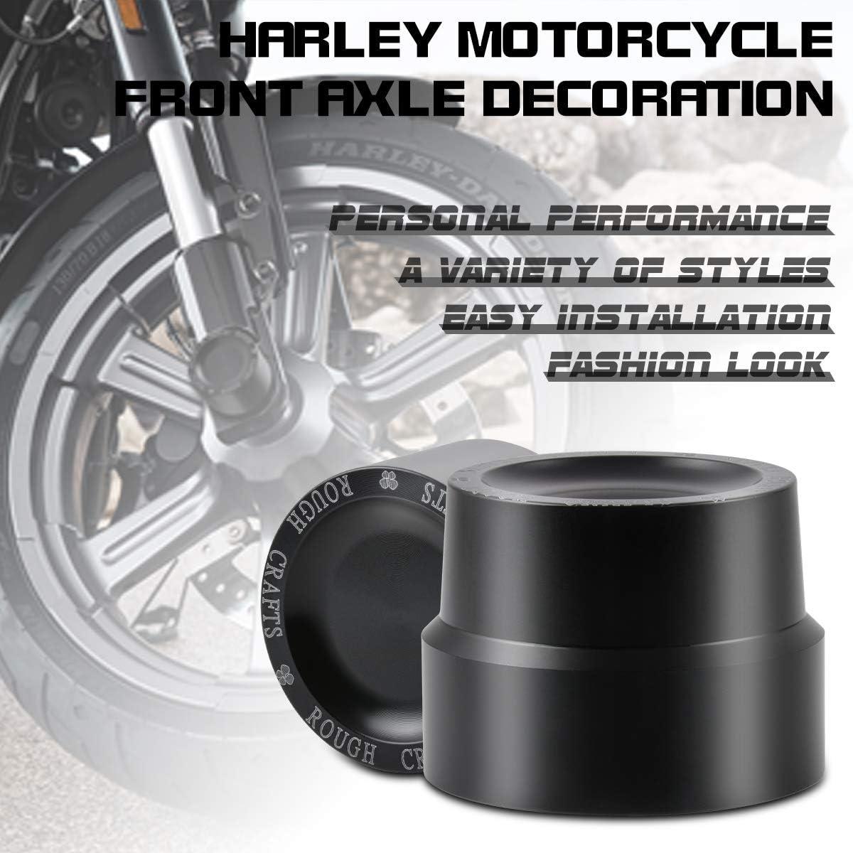 Touring XL 1200 Pour motos Harley Sportster XL 883 Katur Kit de cache-/écrou et cache-moyeu avant et arri/ère en aluminium CNC noir Softail et Glide Dyna V-Rod