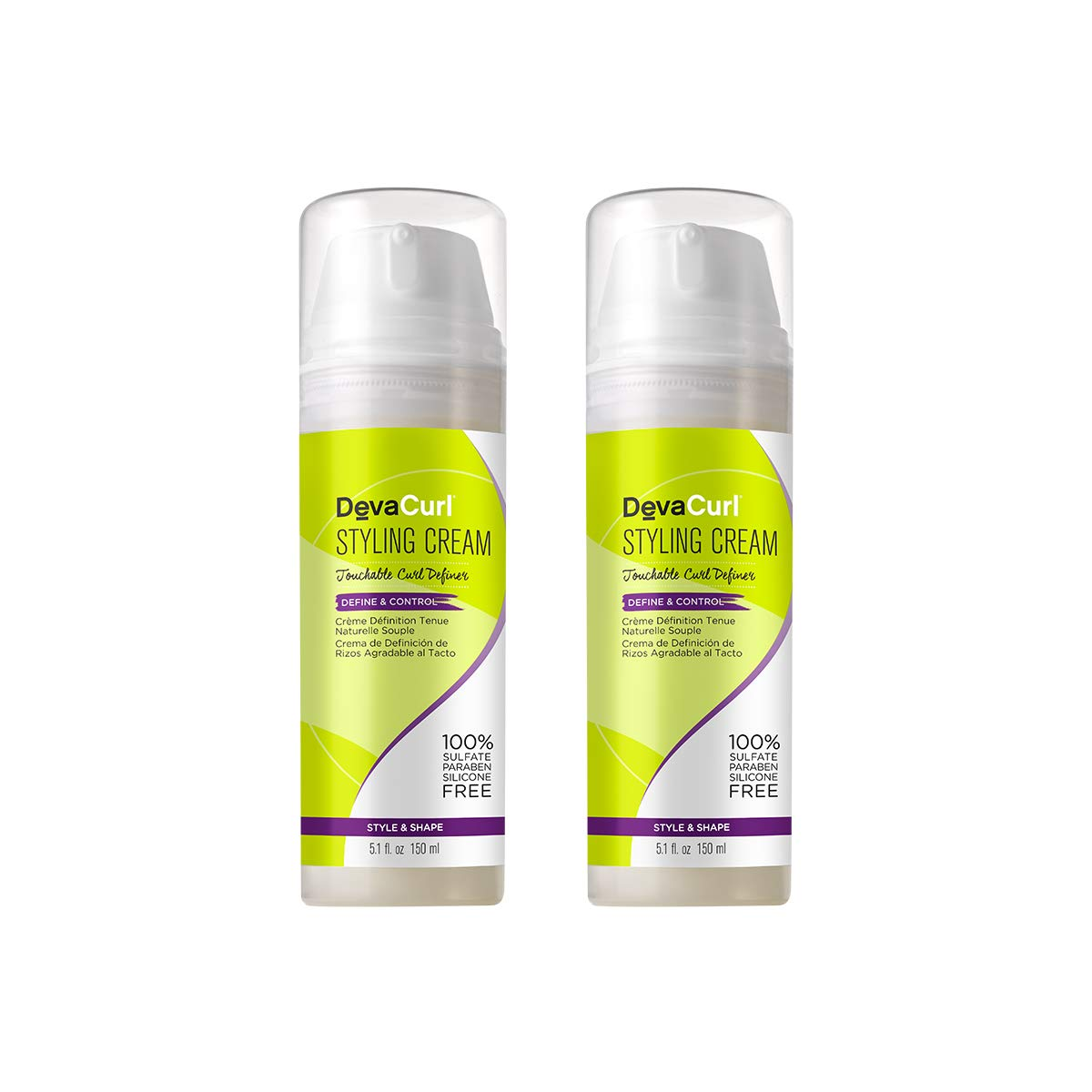 DevaCurl Styling Cream Touchable 2016 Release pack 2 5.1 oz