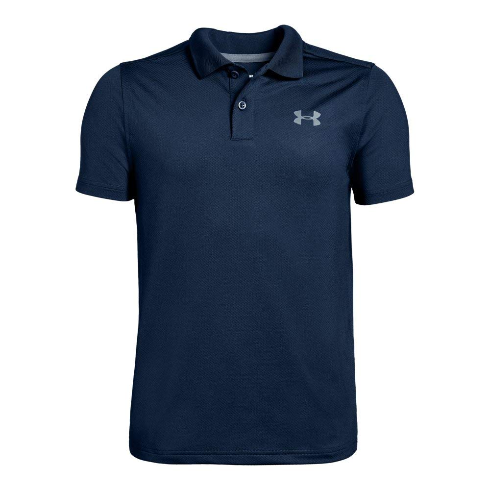 Under Armour boys Performance 2.0 Golf Polo, Academy (408)/Pitch Gray Fade Heather, Youth Small by Under Armour