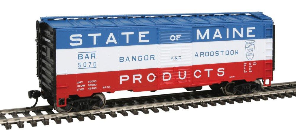 【18%OFF】 40 ' AAR 1948 Maine Boxcar – を実行する準備 – Aroostook - # Bangor & Aroostook # 5070 (ブルー、ホワイト、レッド;
