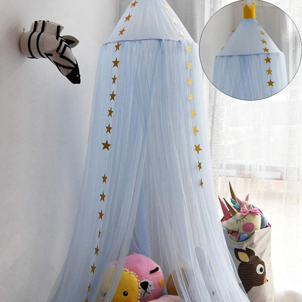 Mosquito Net Bed Canopy Netting Dome Princess Bed Tents Crib Netting for Childrens Reading Play Room Decorate