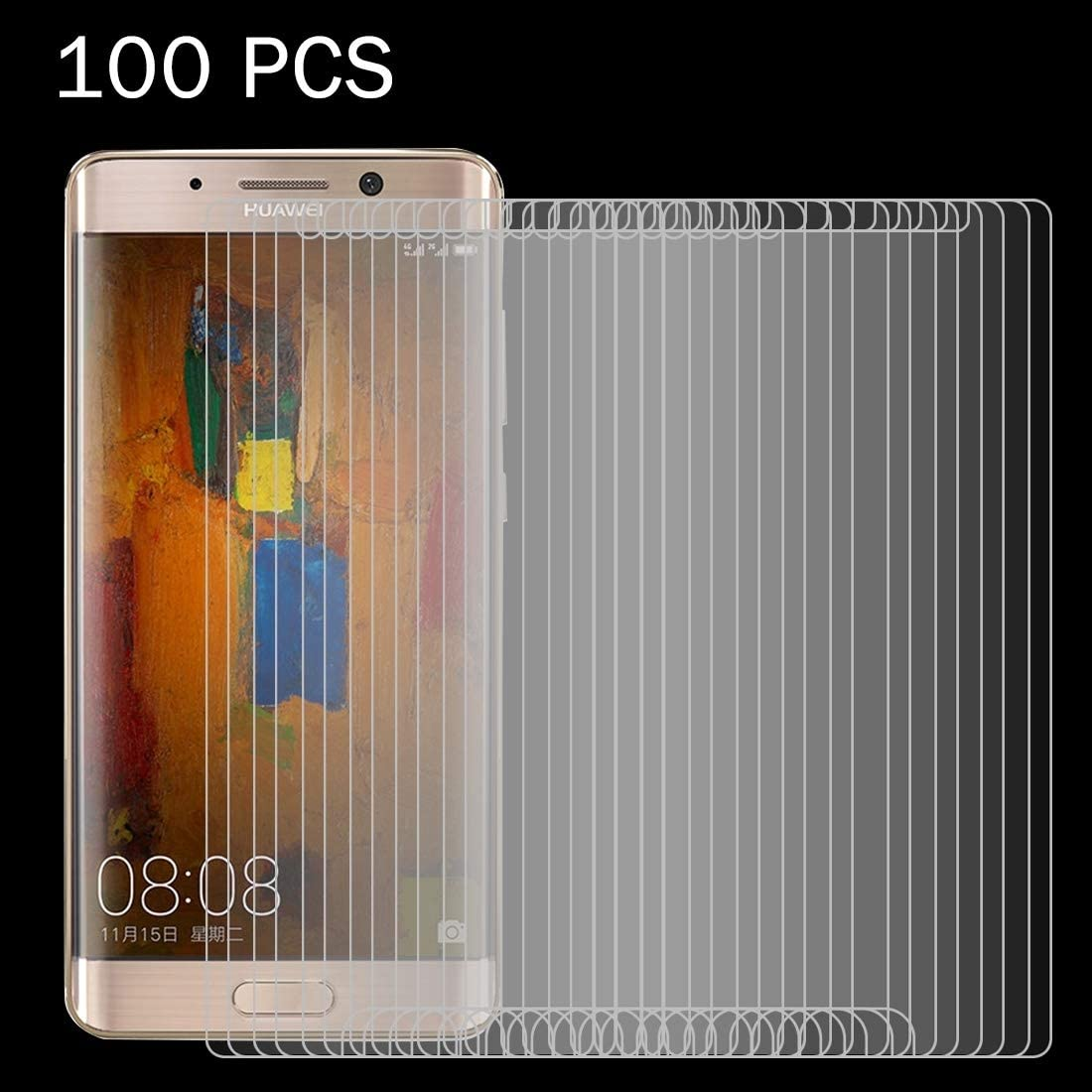 KOUYU Screen Protectors 100 PCS for Huawei Mate 9 Pro 0.26mm 9H Surface Hardness 2.5D Explosion-Proof Tempered Glass Non-Full Screen Film Tempered Film
