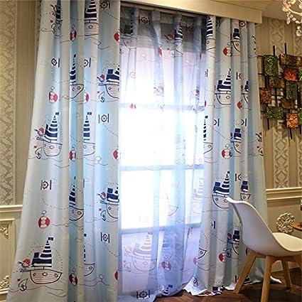 Amazon.com: LELVA Kids Room Curtains Boys Bedroom Window ...