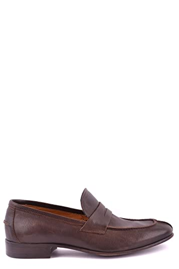 Men's MCBI272002O Brown Leather Loafers
