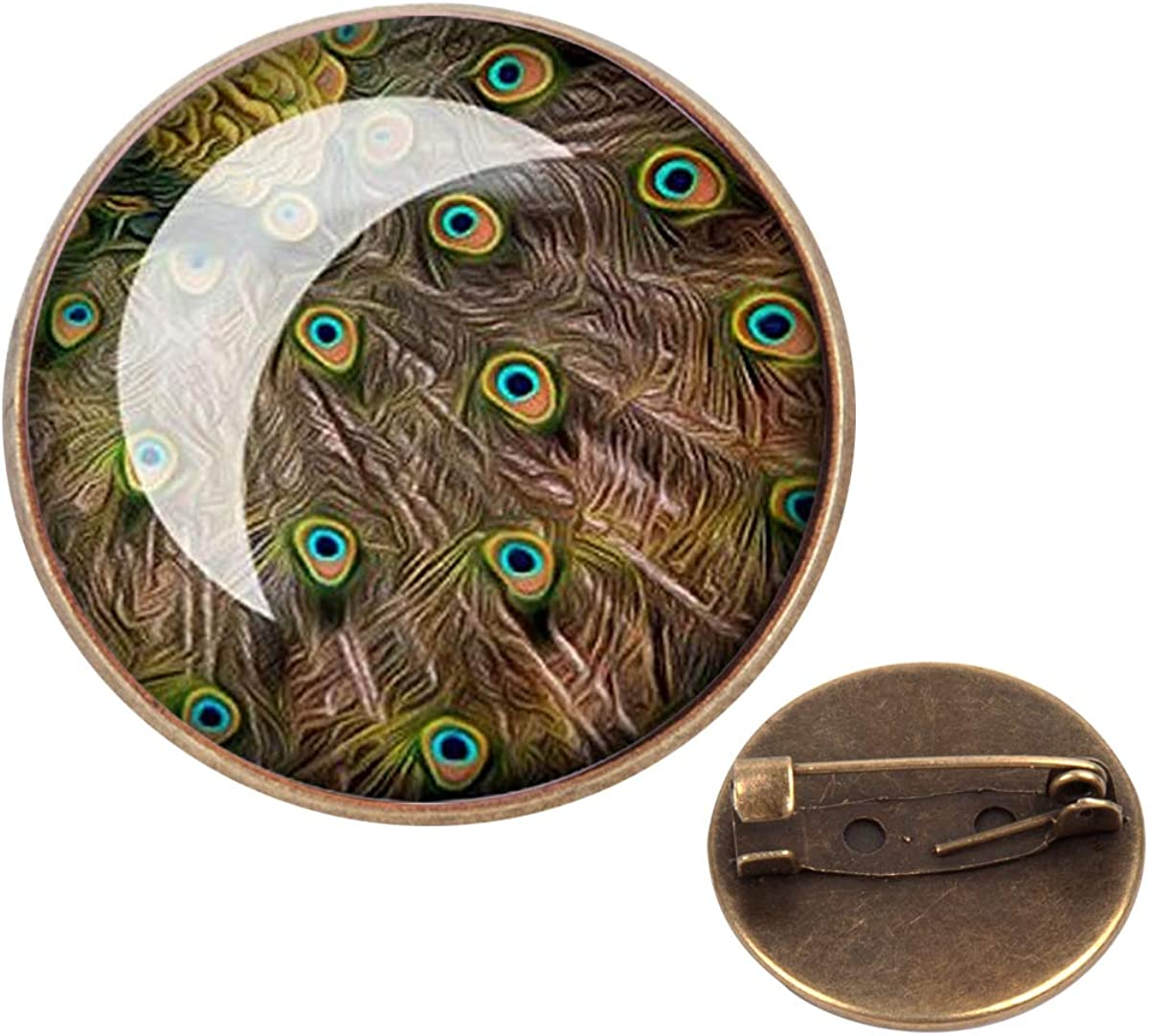 Pinback Buttons Badges Pins Peacock Feather Lapel Pin Brooch Clip Trendy Accessory Jacket T-Shirt Bag Hat Shoe