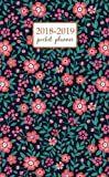 2018-2019 Pocket Planner: 2 Year Pocket Monthly Calenda Planner 4 x 6.5 inch Cute Floral pattern in the small red flower. - floral design (Volume 25)