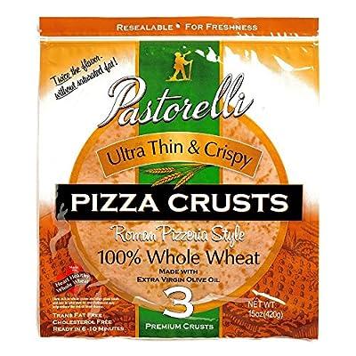 Pastorelli Whole Wheat Ultra Thin & Crispy Pizza Crust 15 oz each (1 Item Per Order)